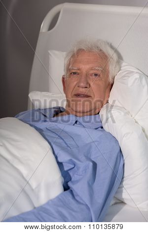 Old Man Alone In Hospice