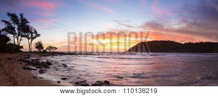 Sunrise At Moloa'a Beach, Kauai, Hawaii