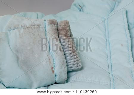 Dirty Sleeve Of Jacket