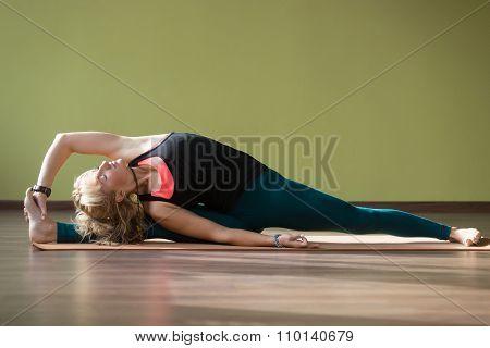 Parivritta Hanumanasana Yoga Pose