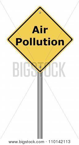 Warning Sign Air Pollution