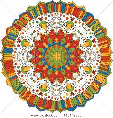 Mandala. Indian Pattern.