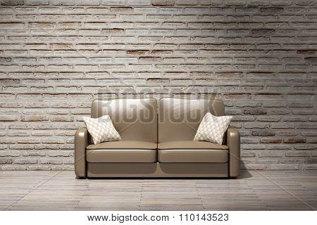 Interior Of Living Room. Loft