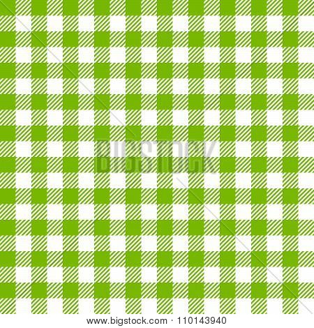Green seamless pattern with fabric texture