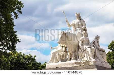 "Allegorical Sculpture  ""europe"", Part Of Prince Albert Memorial In London, Great Britain"