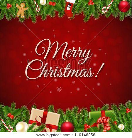 Xmas Christmas Retro Card