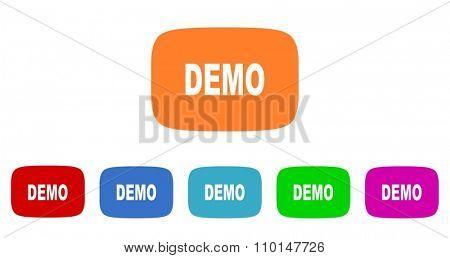 demo flat design modern icon
