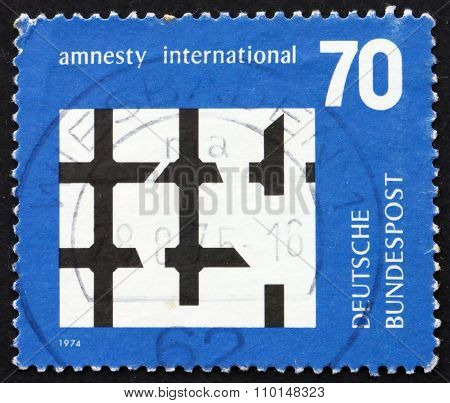 Postage Stamp Germany 1974 Broken Bars Of Prison Window