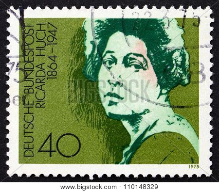 Postage Stamp Germany 1975 Ricarda Huch, Writer And Poet