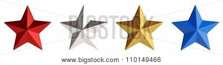 Stars Isolated 3D Rendering