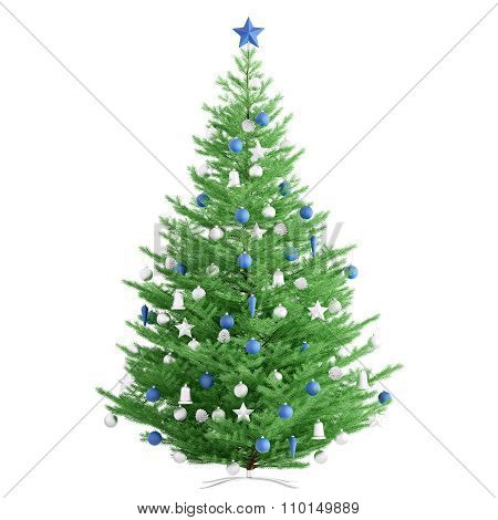 Christmas Fir Tree Isolated 3D Render