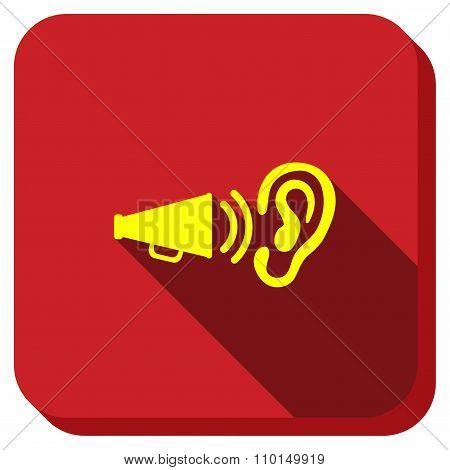 Audio Advertisement Longshadow Icon