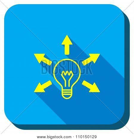Bulb Light Longshadow Icon