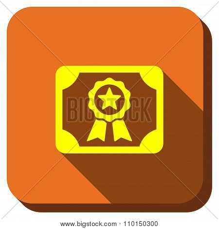 Certification Diploma Longshadow Icon