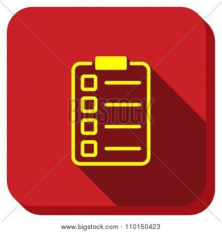 Exam Form Longshadow Icon