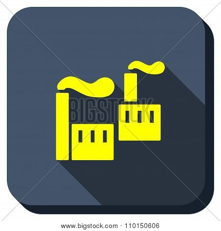 Industrial Pollution Longshadow Icon