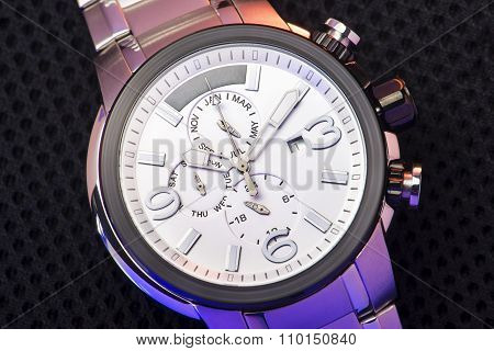 Elegant Fashion Wristwatch Closeup