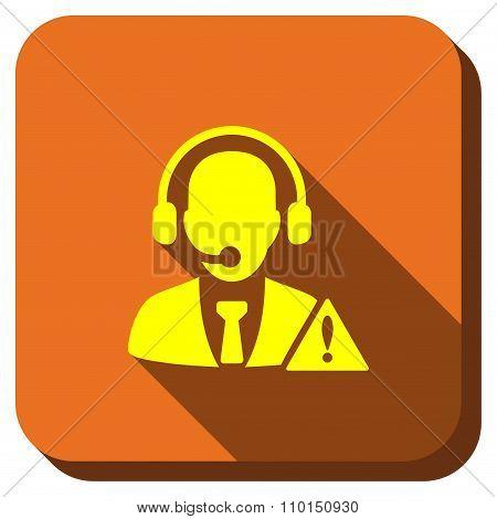 Operator Warning Longshadow Icon