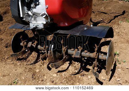 A farm power tiller