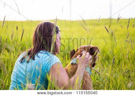 Quiet Time Outdoors With Dog