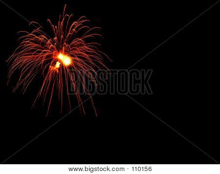 Fireworks - Red And Gold