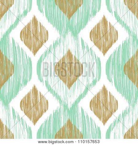 Seamless pattern. Ikat ethnic background in pastel colors