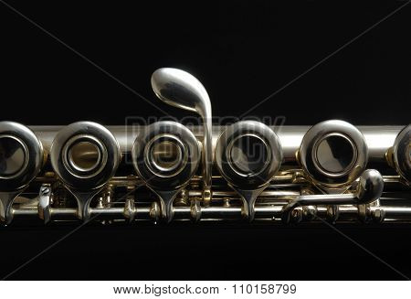 A detail of a clarinet