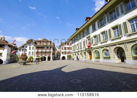 The Town Hall Square In Thun
