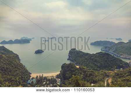seascape of Halong Bay, Vietnam