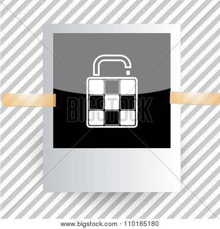 bag. Photoframe. Raster icon.