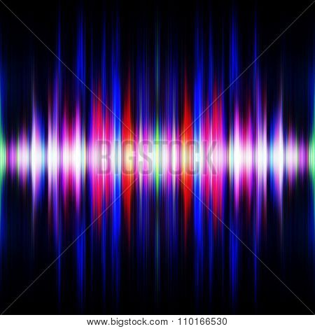 Symmetrical light waves burst illustration.
