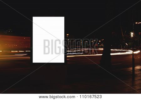 Blank billboard with copy space for your text message or content
