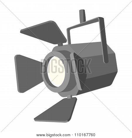 Movie spotlight cartoon icon