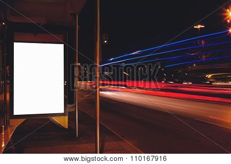 Electronic advertising board with copy space screen for your text message or content