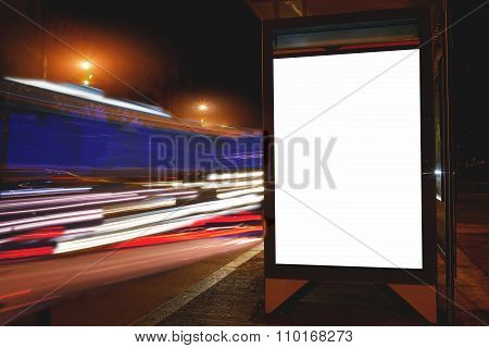 Advertising mock up banner outdoors