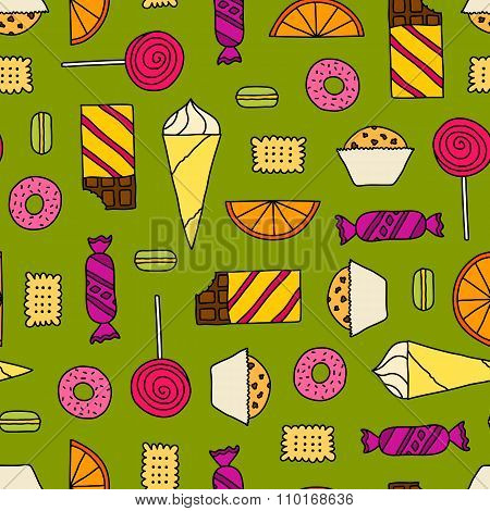 Seamless Texture With Sweets