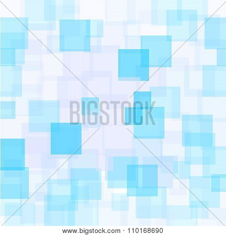 Abstract Azure Squares Background
