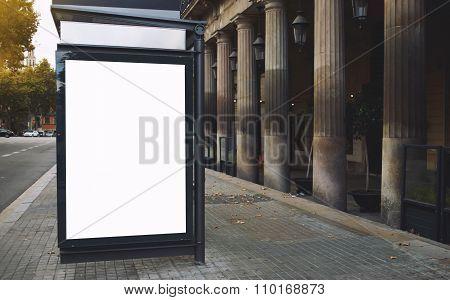 Empty poster in metropolitan city