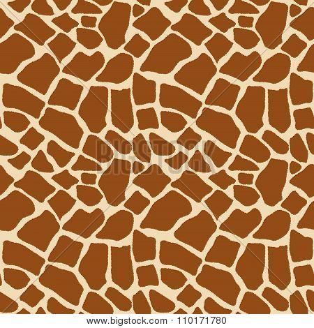 Coloring giraffe seamless pattern