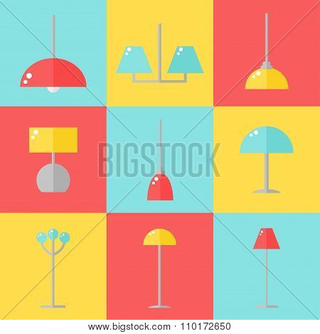 Lamp icons.