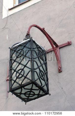Forged Antique lantern in old Tallinn (Vana Tallinn)