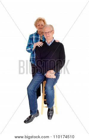 Middle Age Couple In Portrait Image.