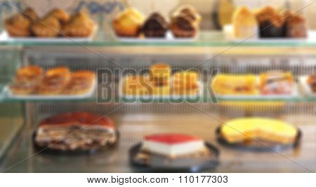 Traditional Portugal Cakes. In Blur Style