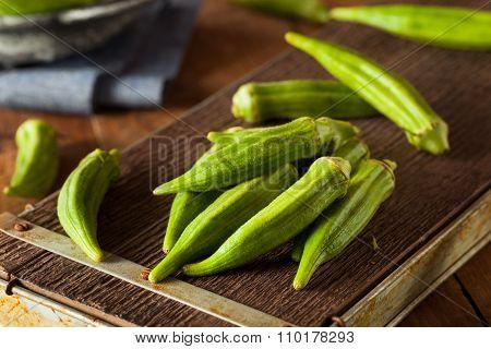 Fresh Green Organic Okra