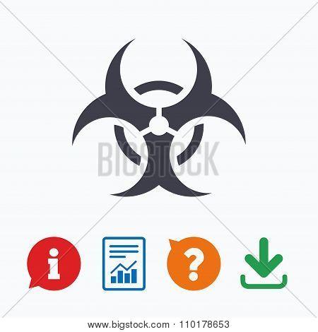 Biohazard sign icon. Danger symbol.