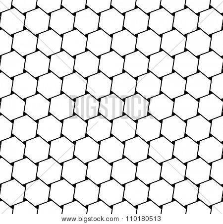Hexagons latticed pattern. Seamless geometric texture.Vector art.