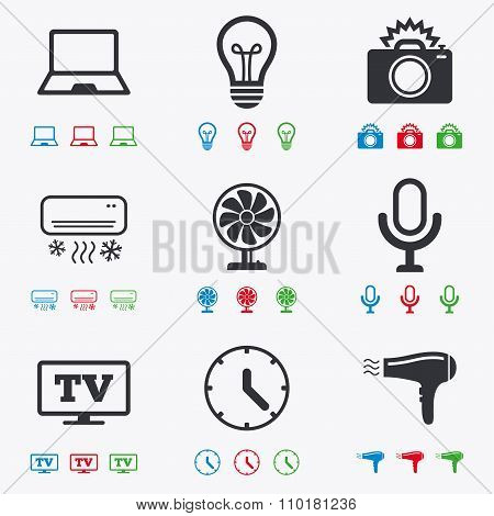 Home appliances, device icons. Air conditioning.
