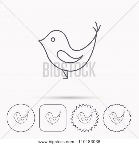 Bird with beak icon.