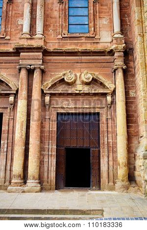 Navarrete church in The Way of Saint James at La Rioja Spain