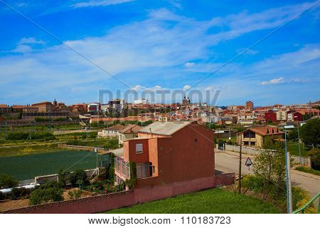 Saint James Way at Astorga aerial view in Leon Castilla of Spain
